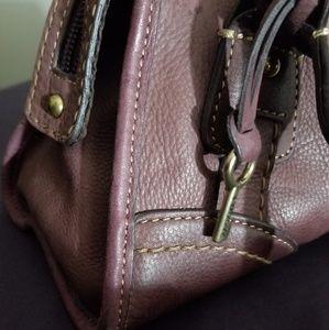 Fossil leather satchel beautiful